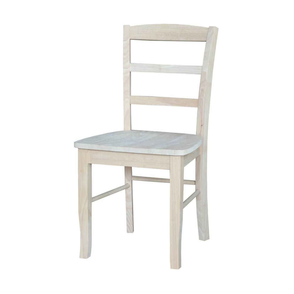 International Concepts Unfinished Madrid Ladderback Dining Chairs