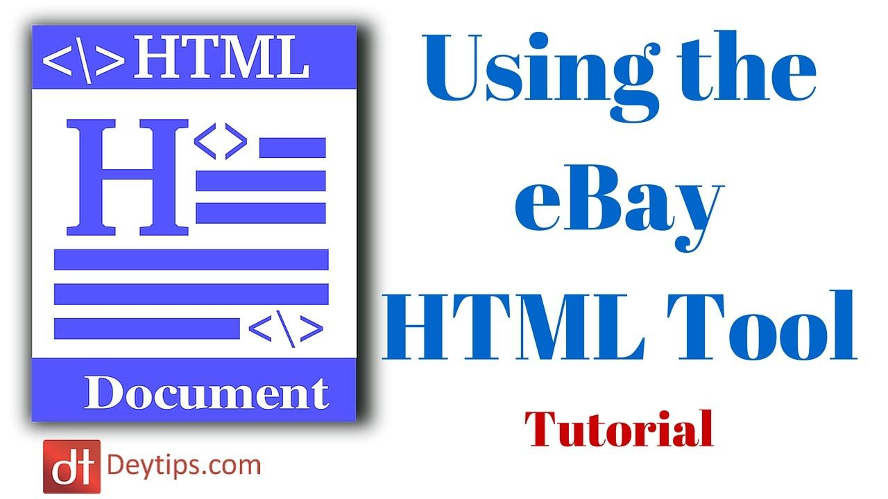 Creating EBay HTML Listing Templates Sellercore Tutorial - Create ebay listing template