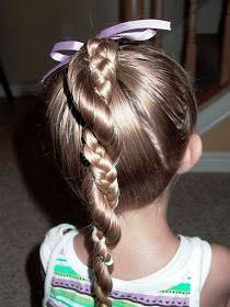 Shaunell's Hair: Little Girl's Hairstyles: Easy Twist Around Braided Ponytail 10-15 min | followpics.co