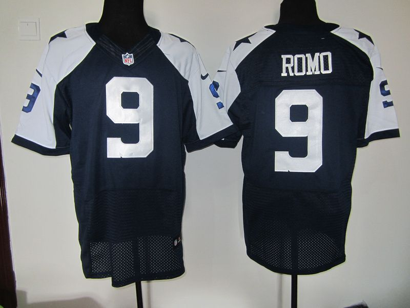 a5b021a12 Dallas Cowboys 9 Romo Blue Thanksgiving Nike Elite Jersey