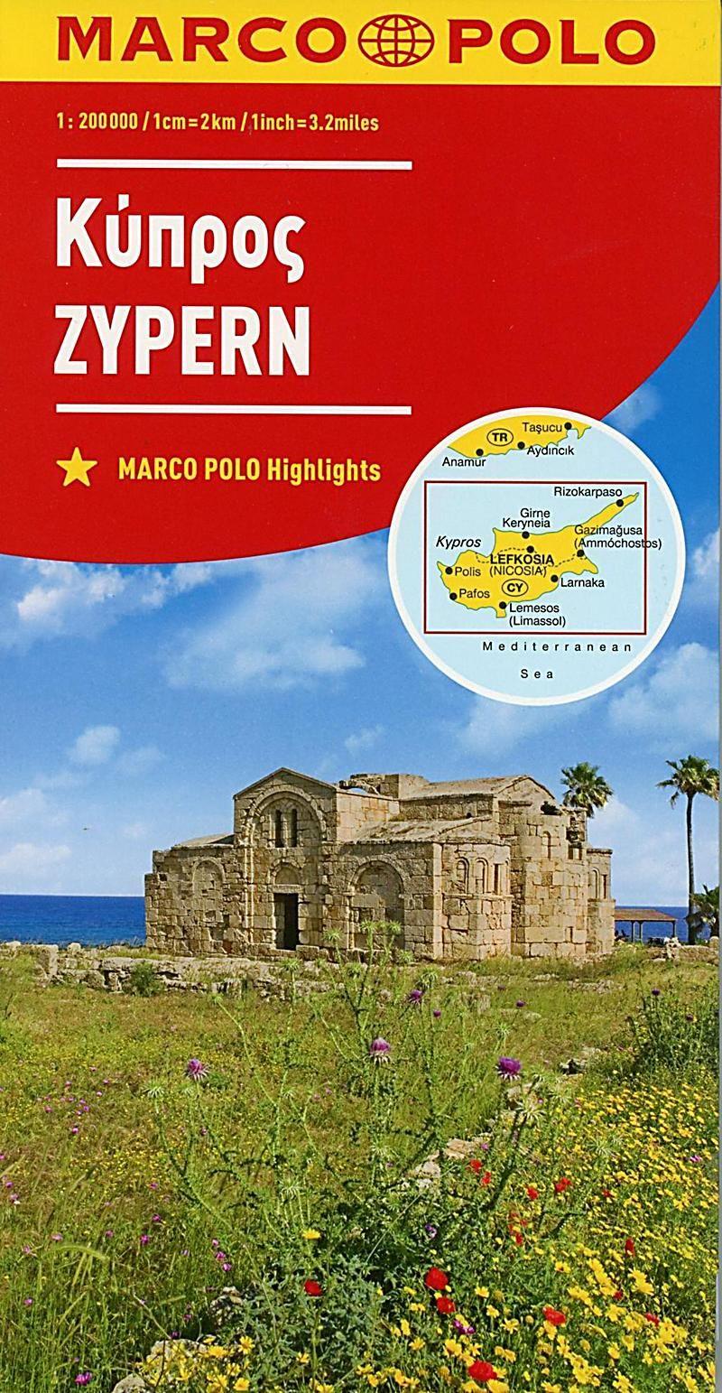 Marco Polo Karte Zypern 1 200 000 Chypre Cyprus Karte Im
