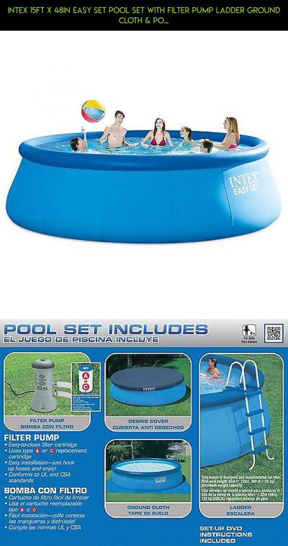 Intex 15ft X 48in Easy Set Pool Set with Filter Pump Ladder Ground ...