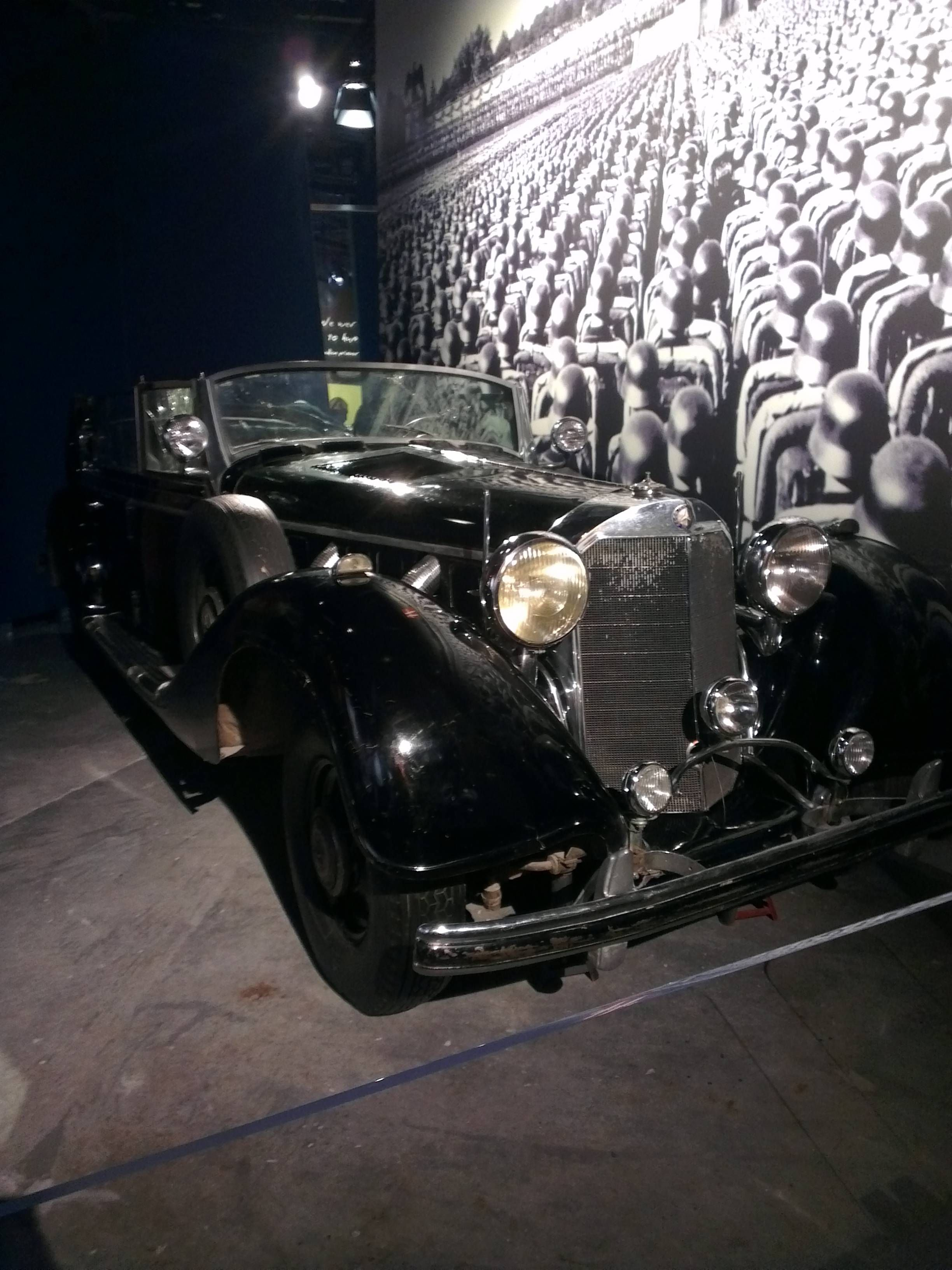 One of Adolf Hitler\'s black Mercedes-Benz 770 (W150) at the Canadian ...