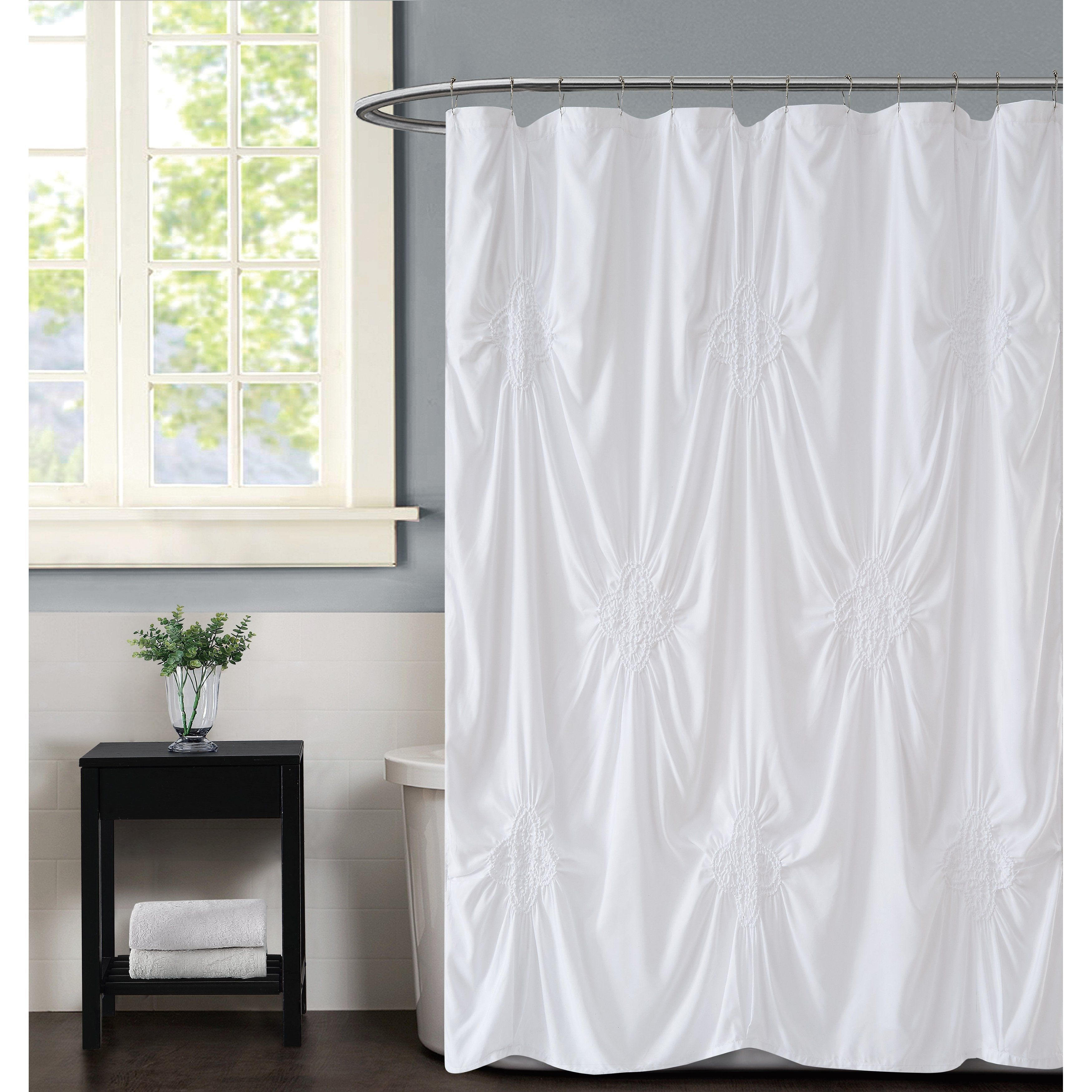 Christian Siriano Georgia Rouched 72 X 72 Shower Curtain