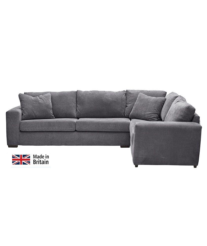 Home Eton Right Corner Fabric Sofa Charcoal Charcoal Sofa Fabric Sofa Corner Sofa