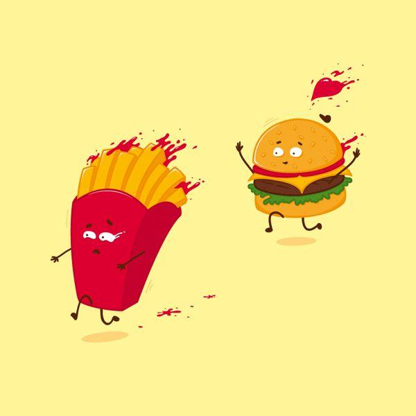 Fast food story by Gl3R , via Behance