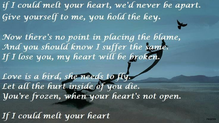 Madonna Frozen Lyrics If Only You Re Frozen Heart Would Melt
