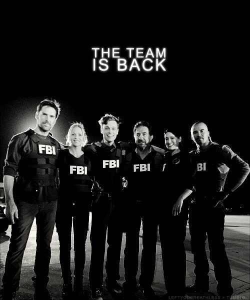 Criminal Minds Fan Art: The Team Is Back