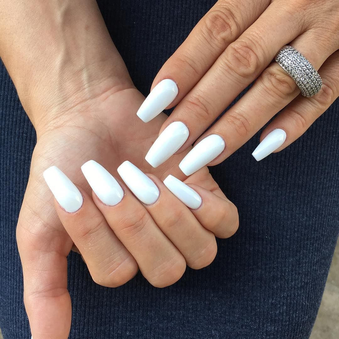 cool 25 Fancy White Coffin Nails - Bright and Fasionable ...