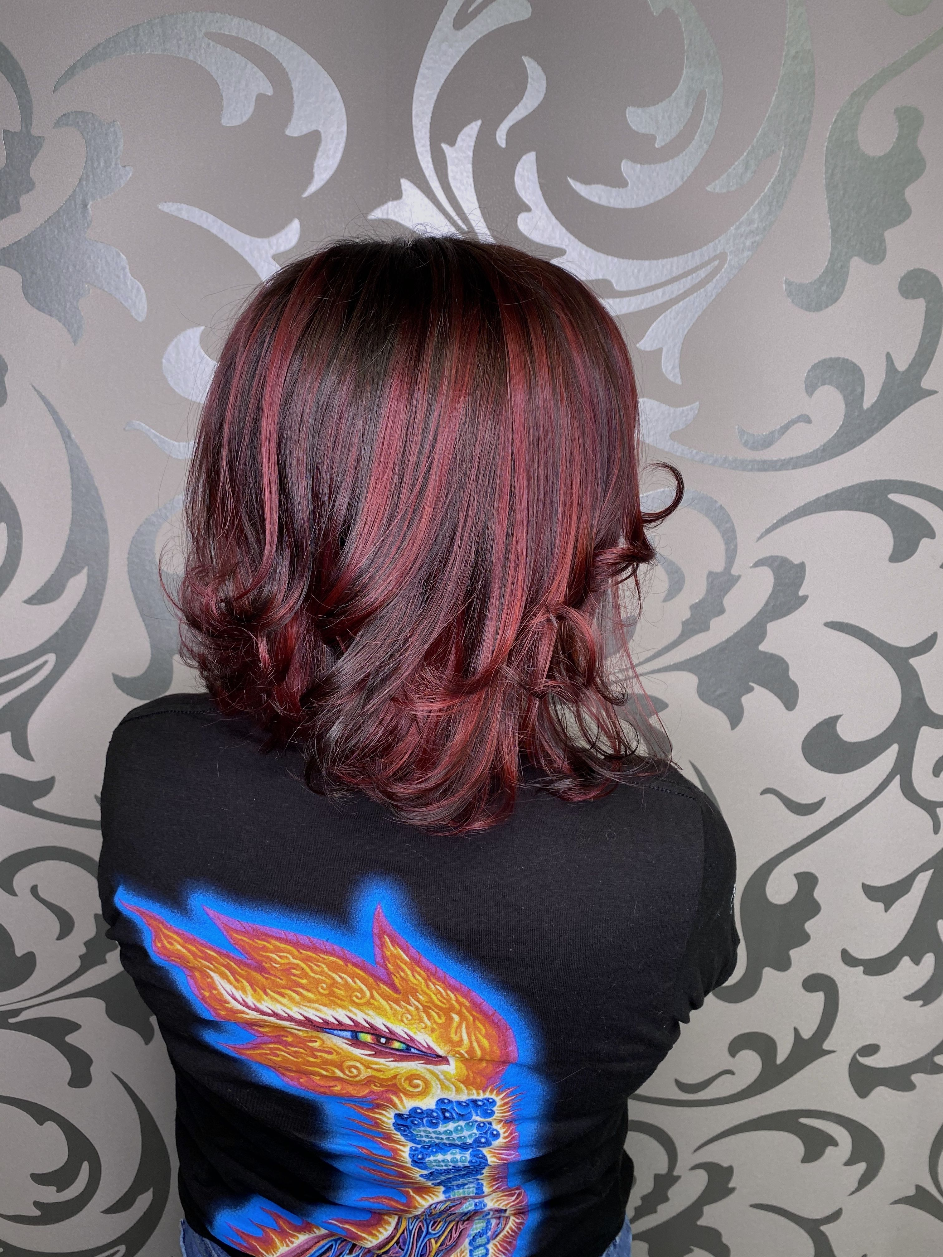 Chocolate brown and red colormelt