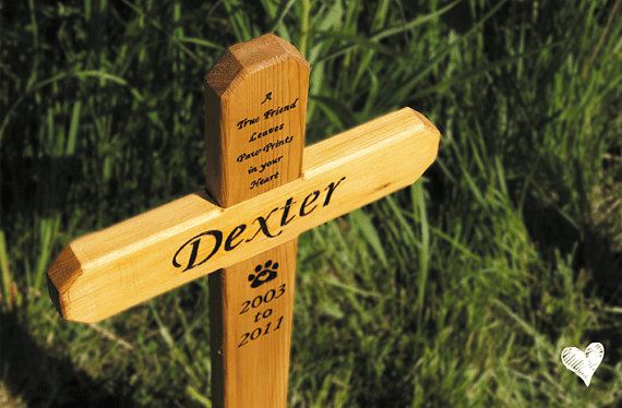 Small Cedar Pet Memorial Wood Burned Cross