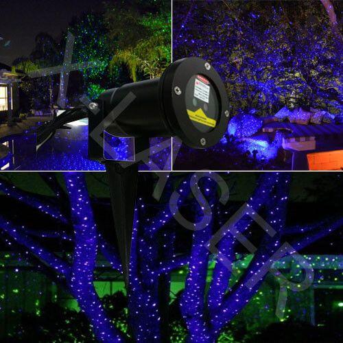 Garden Laser Light Blue Outdoor Garden Lighting Lawn Lights Laser Lights