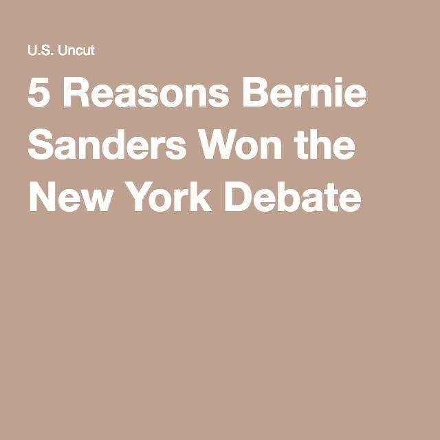 5 Reasons Bernie Sanders Won the New York Debate
