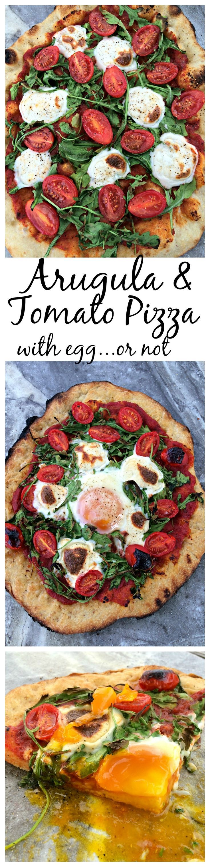 Tomato and Arugula Pizza ~ Homemade pizza with fresh arugula ...