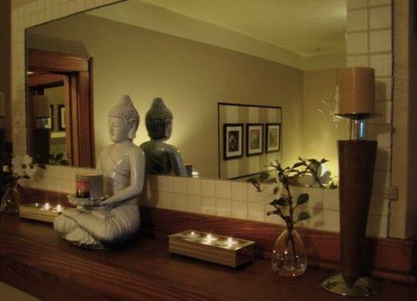 Warm, spiritual decor... very calming