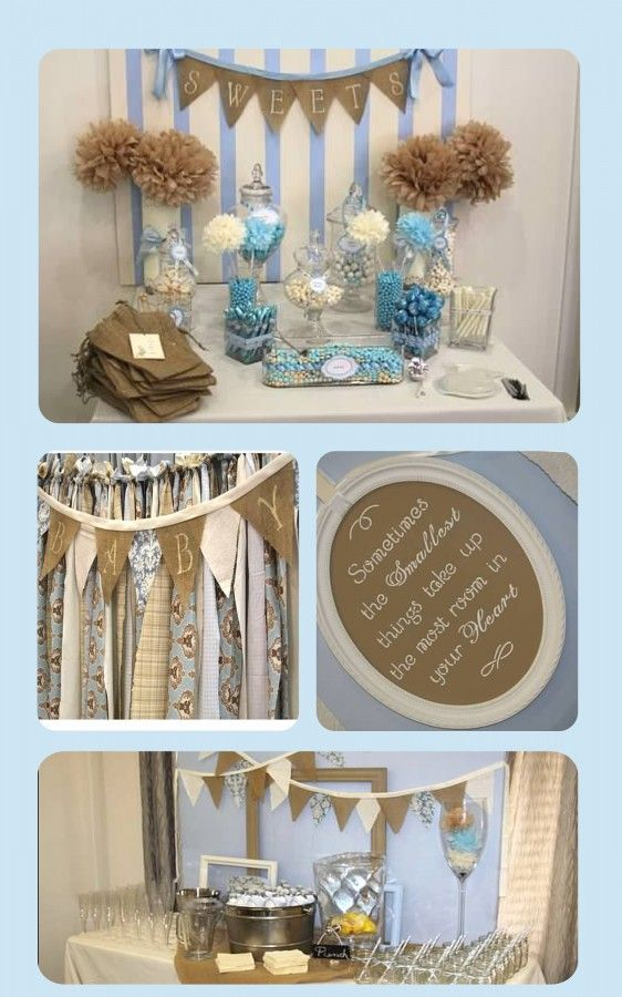 vintage baby boy shower