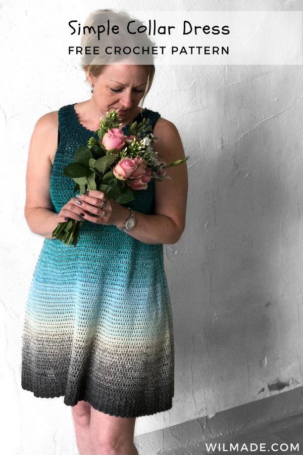 Simple Collar Dress Free Crochet Dress Pattern By Knitcrochet