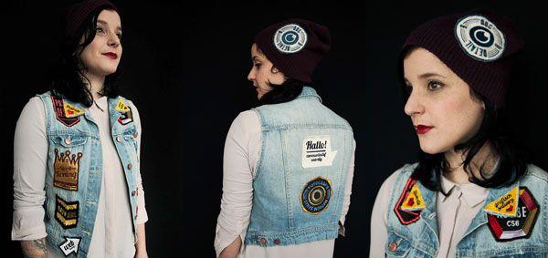 un cv original sur une veste  la recherche d u2019emploi pr u00eate  u00e0 porter