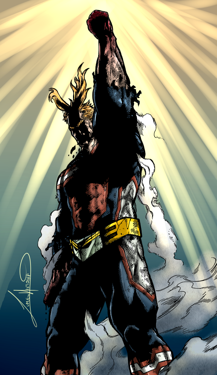 All Might Arte del personaggio, Personaggi, Supereroi
