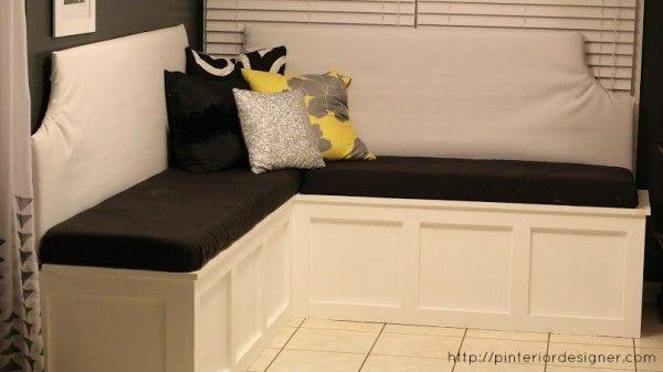 Remodelaholic Build A Custom Corner Banquette Bench Kitchen Corner Bench Seating Corner Banquette Corner Bench Seating
