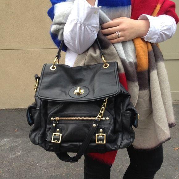 "Selling this ""Black Coach Sydney Leather Flap Satchel Bag"" in my Poshmark closet! My username is: triplyksis. #shopmycloset #poshmark #fashion #shopping #style #forsale #Coach #Handbags"