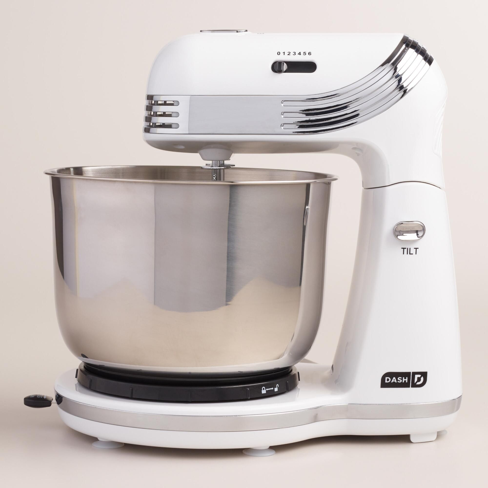white dash go everyday electric mixer mixing bowls dressing and
