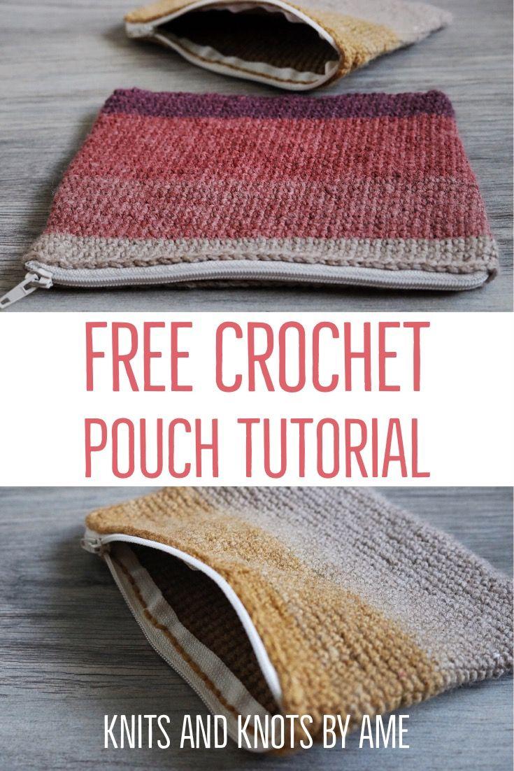 Easy crochet pouch pattern   Free Crochet Pattern   Beginner Crochet Pouch  #crochet