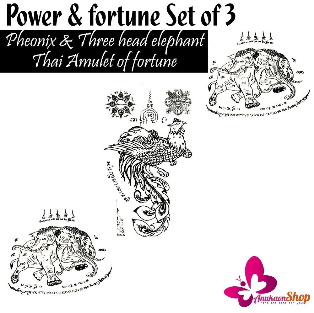 Tattoo stickers temporary body art thai amulet set talisman of tattoo stickers temporary body art thai amulet set talisman of fortune toys gags unbranded buycottarizona