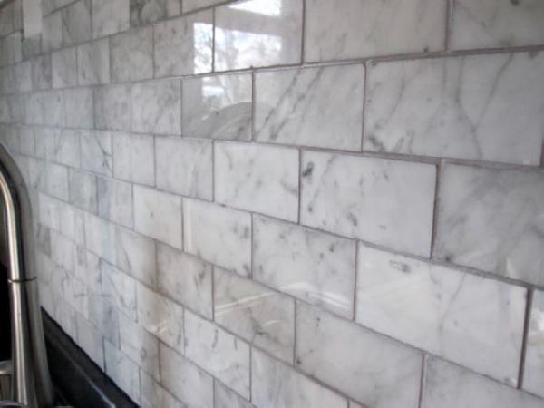 Backsplashes For Kitchens Marble Subway Tiles Carrara Marble