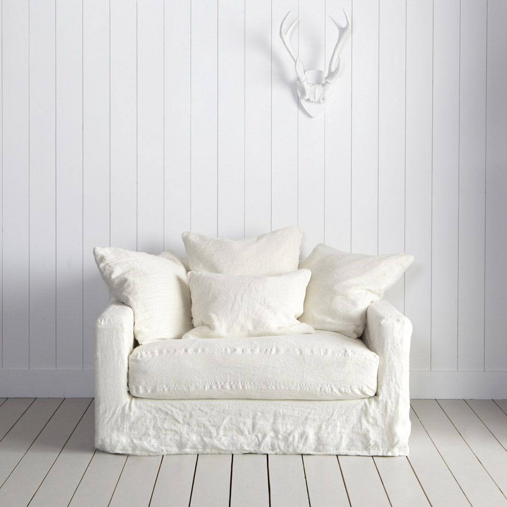 From Frenchic And Shabby The Antibes Linen Armchair
