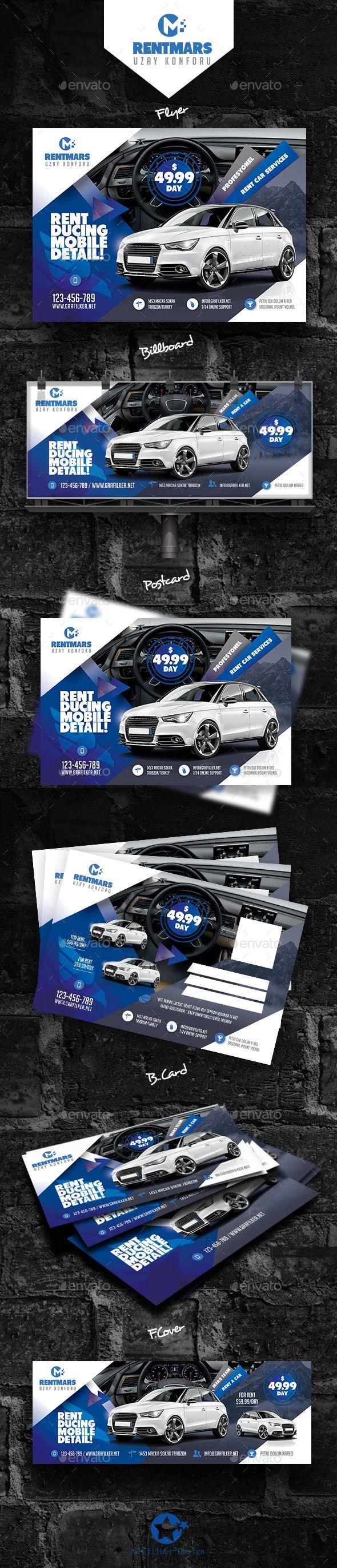 Rent A Car Bundle Templates AD Car, Sponsored, Rent,
