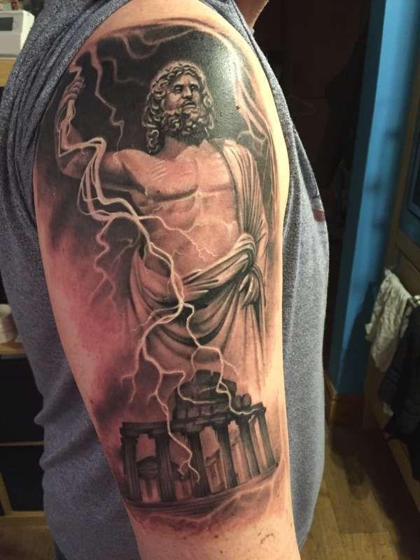 Zeus Tattoo On Pinterest Poseidon Greek Mythology Tattoos
