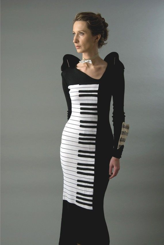 4aa23489db Your choice: White or black? And the black and white for you! Always true!  by TATIANA and VERONIKA on Etsy. - Piano Key Dress.