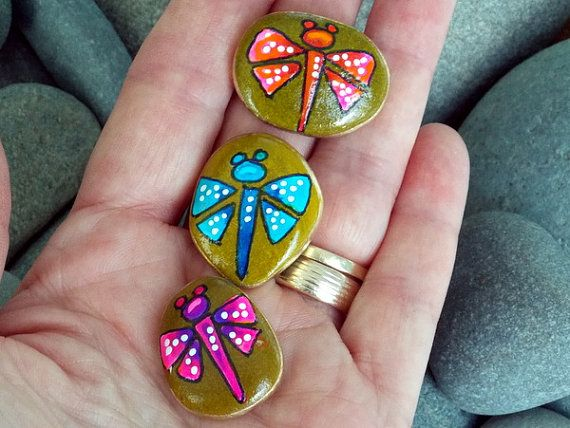 dragonfly blessings magnets painted rocks by lovefromcapecod rock drop cats pinterest. Black Bedroom Furniture Sets. Home Design Ideas