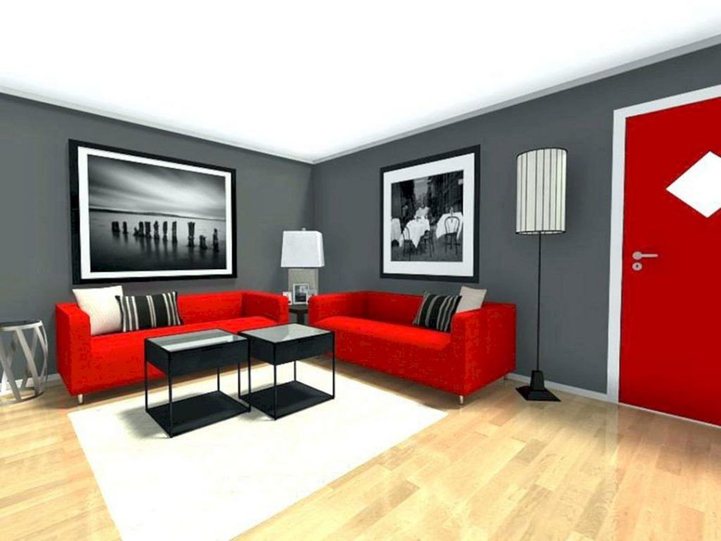 Red And Black Living Room Design Grey Walls Living Room Red Living Room Walls Red Living Room Decor
