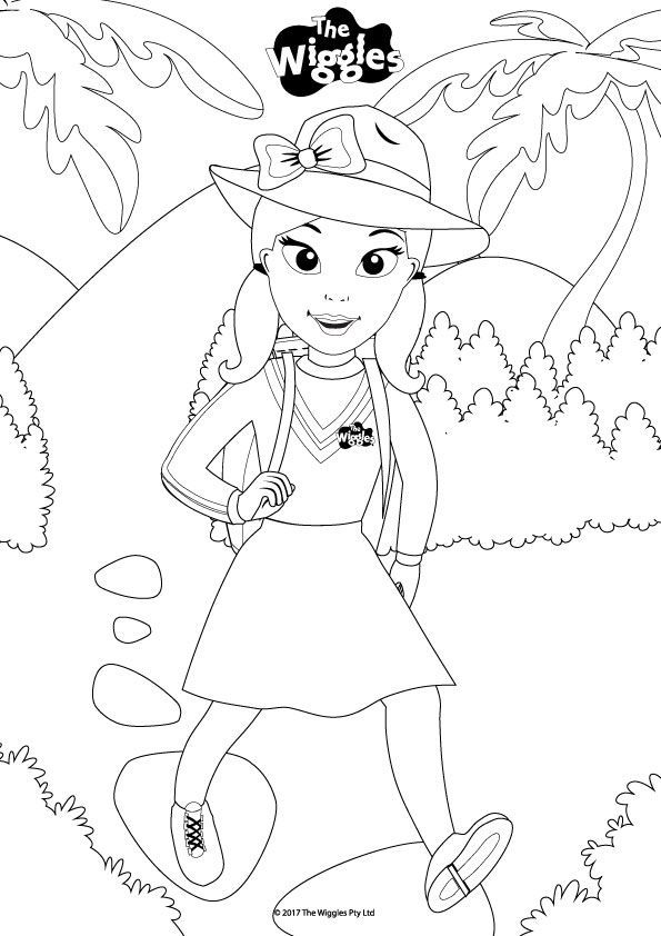 The Wiggles Activity: Color Emma the Explorer! (With