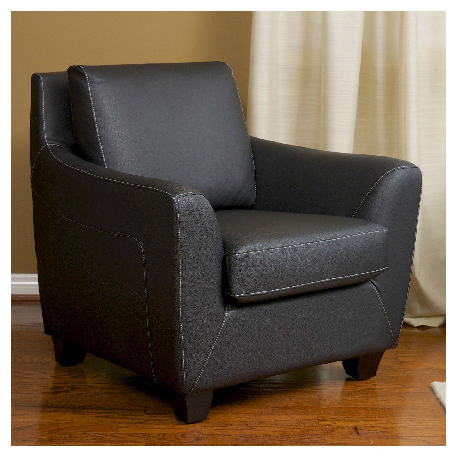 Monty Black Club Chair Black   Christopher Knight Home