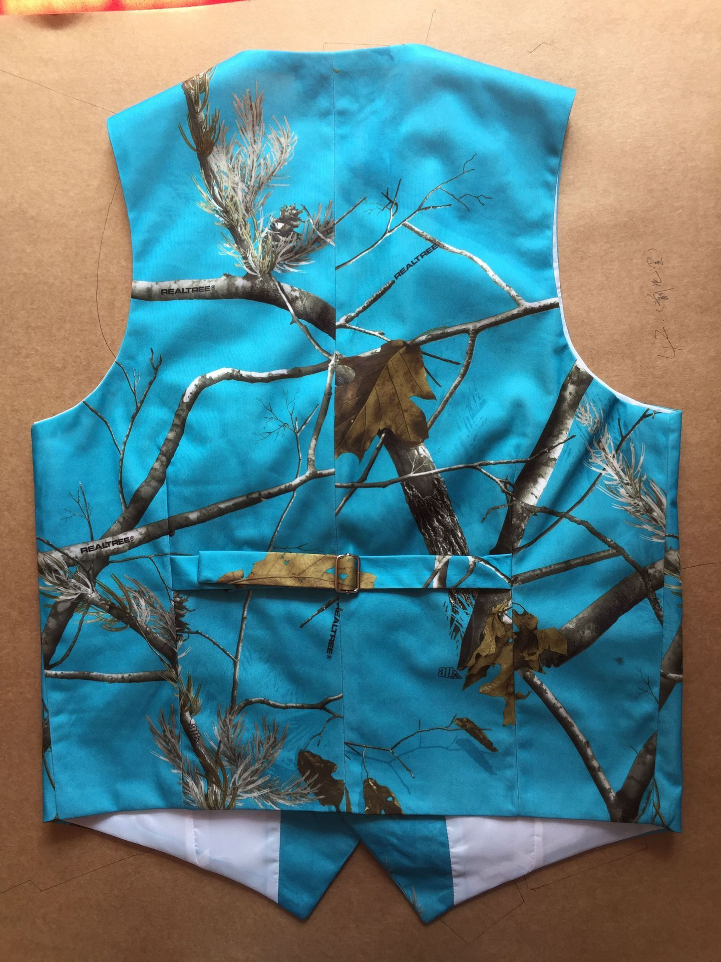 Blue realtree camouflage vest blue camo wedding real