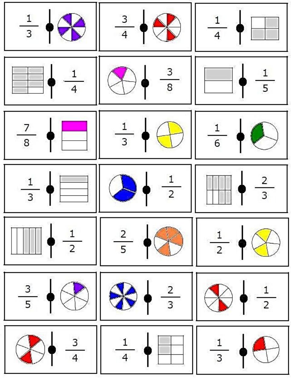 Domino de Fracciones   Alakoulun matikka, sekalaista   Pinterest ...