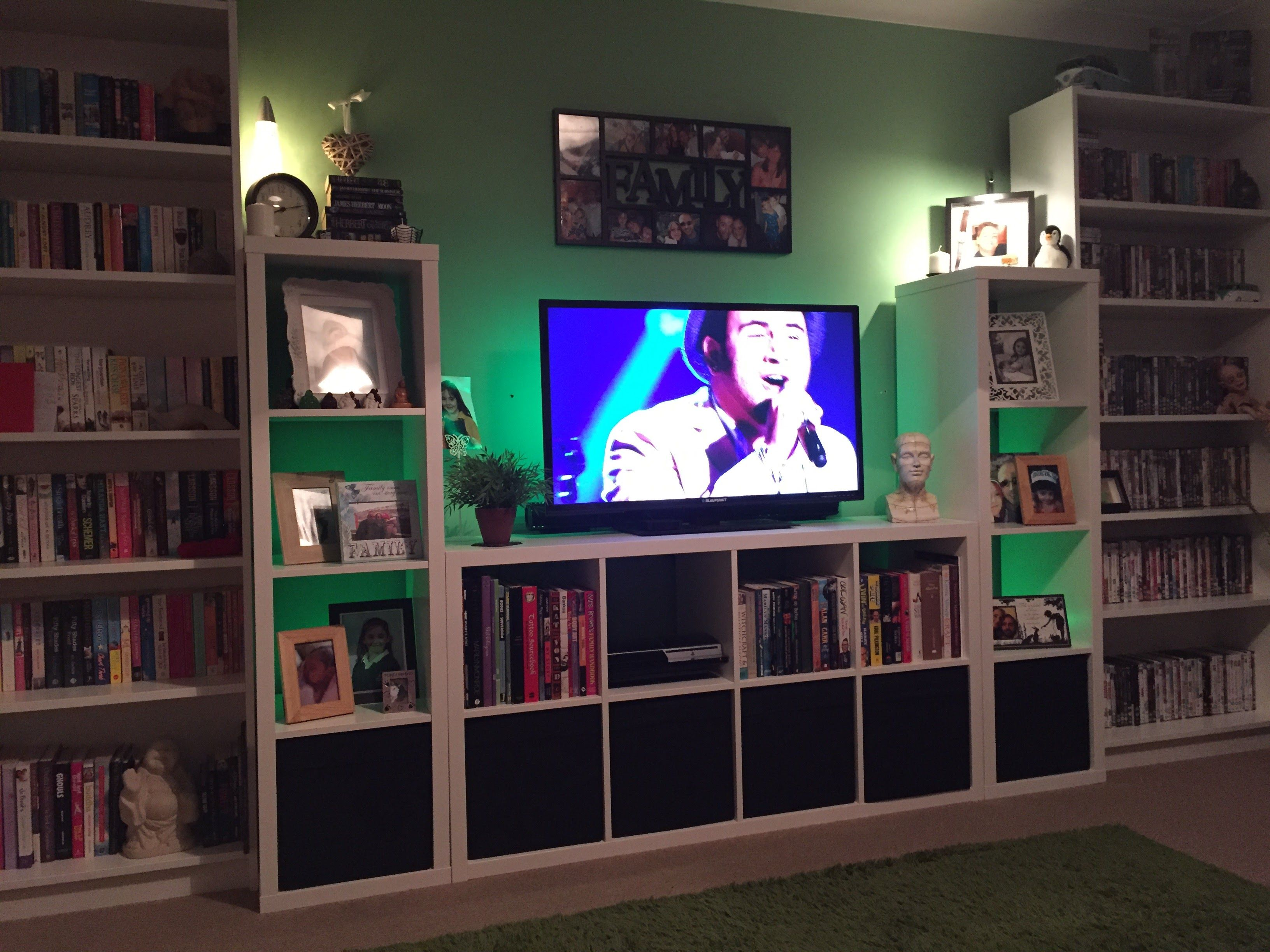 new arrivals 176b8 c0ff5 Ikea custom build entertainment centre! - £200 all in Billy ...