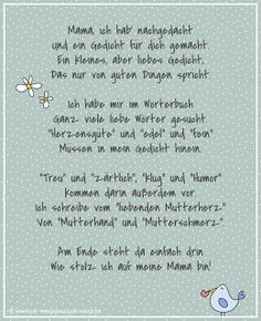 freebie kostenloses muttertagsgedicht f r kinder mein mama pinterest muttertag muttertag. Black Bedroom Furniture Sets. Home Design Ideas