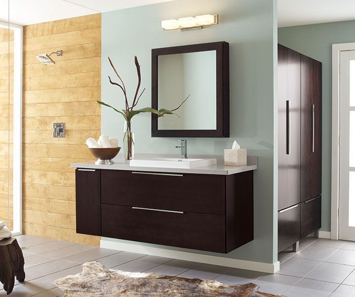 Float In A Dream Courtesy Of A Wall Mounted Bathroom Vanity And Armoire That Define This Wall Mounted Bathroom Cabinets Bathroom Vanity Bathroom Wall Cabinets