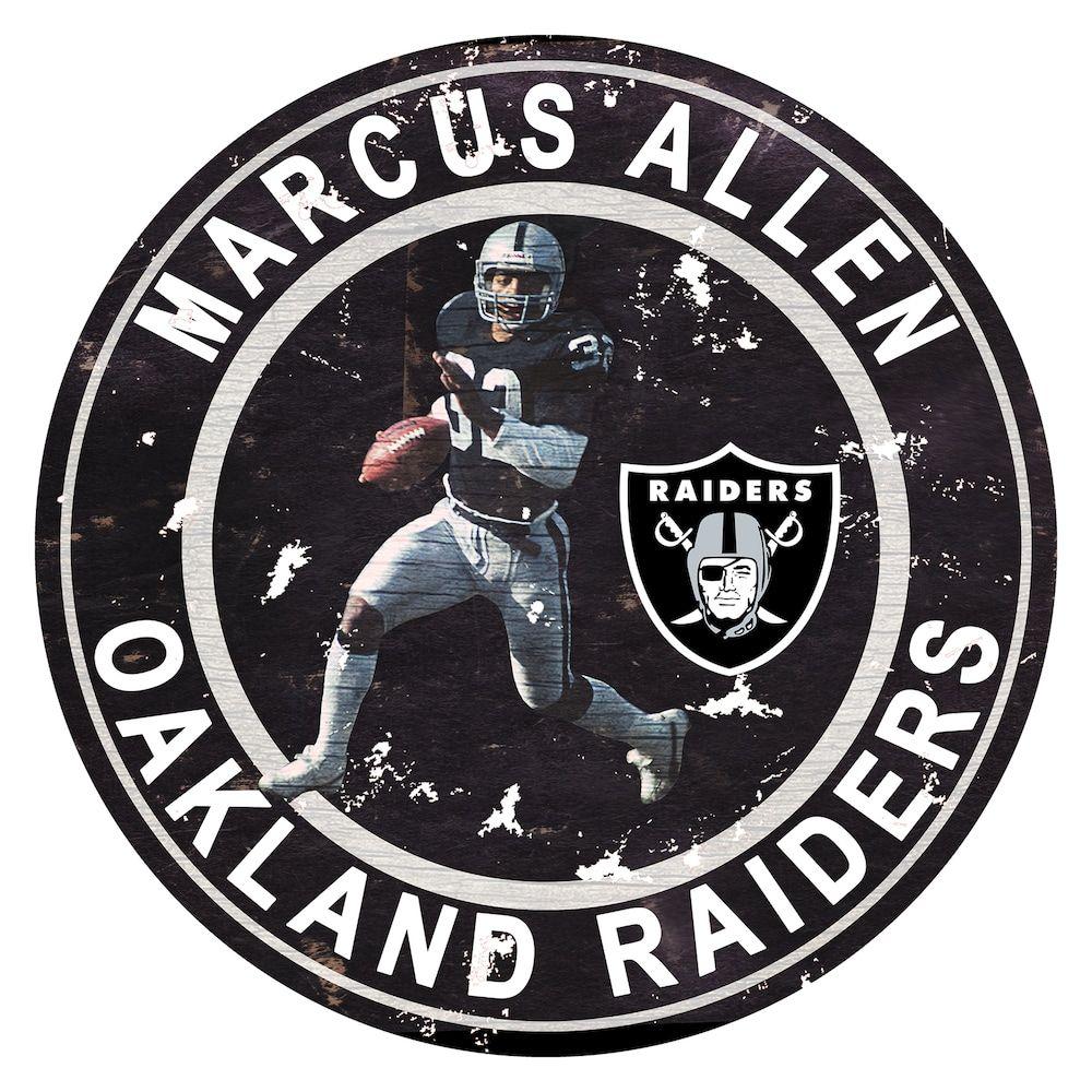 Fan Creations Oakland Raiders Marcus Allen Wall Decor  ccfd10960