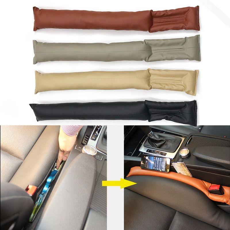 41e456f199b8 1Piece Universal Car Seat Space Cover PU Leather Soft Mat Auto Faux Car  Seat Pad Gap