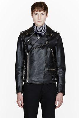 Maison Martin Margiela Black Leather Wrap Around Biker Jacket