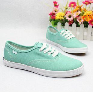 Fashion Mint green Canvas Shoes