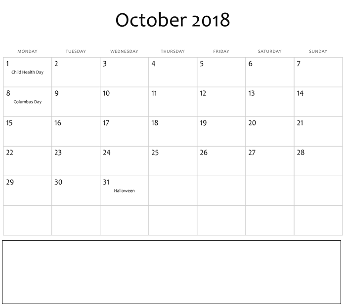 october 2018 calendar with holidays philippines