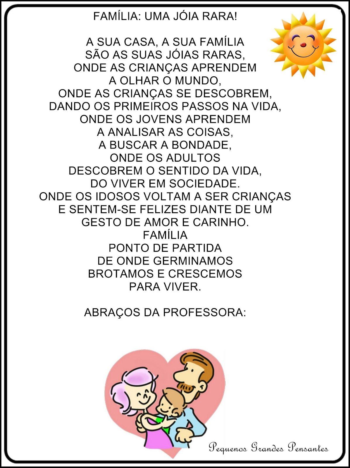 Well-known Mensagem para reunião de pais na educação infantil. | Pai  SW11