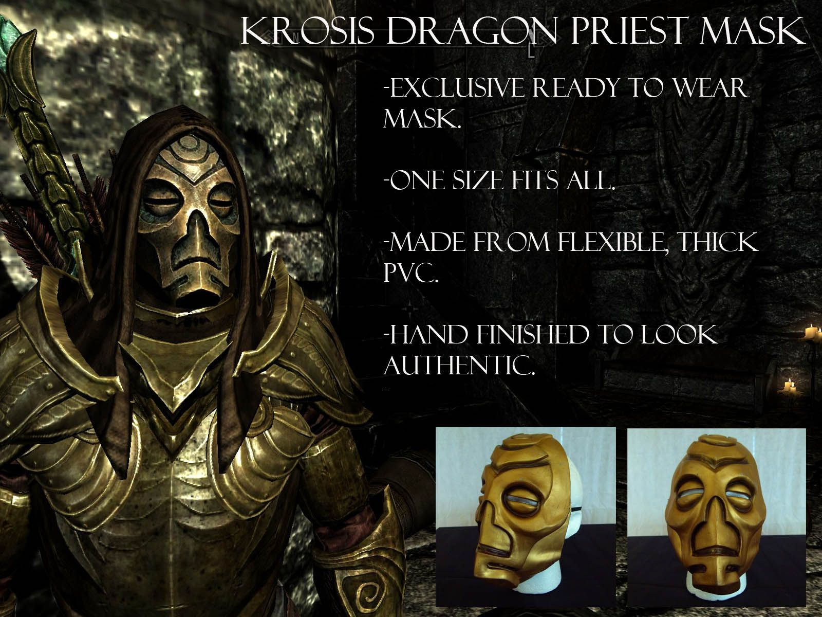 Skyrim Mask ebay cosplay Dragon Priest Dragonpriest Krosis ...