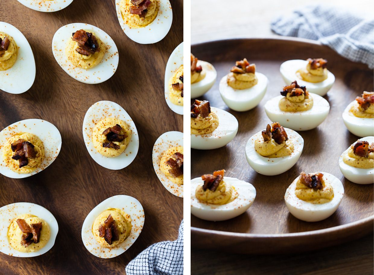 Spiced Butternut Squash & Bacon Deviled Eggs – the perfect fall appetizer!